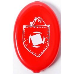 Porta Moedas Clean Spirit Bolso - Vermelho/Branco