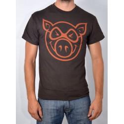 T Shirt Pig - Basic Slim Fit - Brown