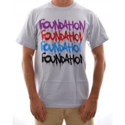 T-Shirt Foundation - Graffiti Repeat - Silver
