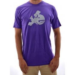 T-Shirt Cliché Europe - Purple/Grey