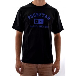 T-Shirt Fourstar Classics Athletic - Black/Blue