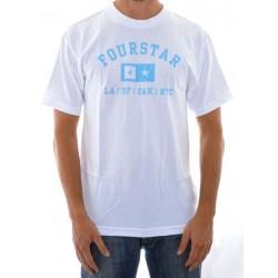 T-Shirt Fourstar Classics Athletic - White/Blue
