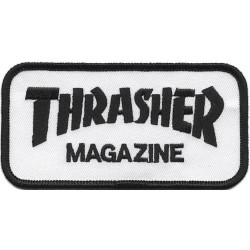 Remendo Thrasher Logo White/Black