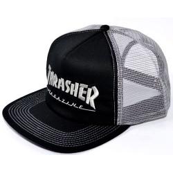 Boné Thrasher Magazine Emboidered Logo - Black/Grey