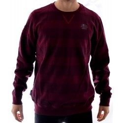 Sweat Crew Alien Crisis Pullover - Burgundy Charcoal