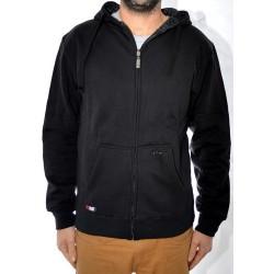 Sweat Hood Zip Jart Reversible - Black