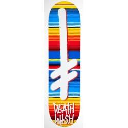 "Tábua Deathwish Gang Logo Blanket Multi/White - 7.75"""""
