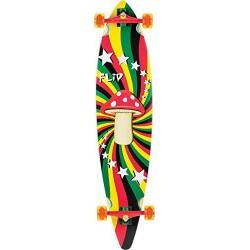 """Longboard Flip Rasta Shroom Pinner Tail - 9.9"""""""" x 43.5"""""""""""
