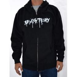 Sweat Hood Zip Mystery Splash - Black