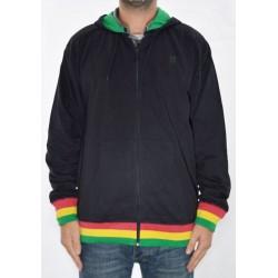 Sweat Hood Zip Plan-B Kingston - Black