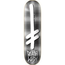 """Tábua Deathwish Gang Logo Grey Plaid - 8.0"""""""""""