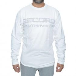 Longsleeve Record Logo Print - White