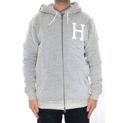 Sweat Hood Zip Huf Classic H - Heather Grey