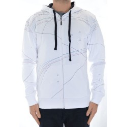Sweat Hood Zip Jart Decks - White