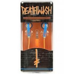 Deathwish Earbuds Orange/Blue