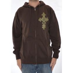 Sweat Hood Zip Ipath Cross - Brown