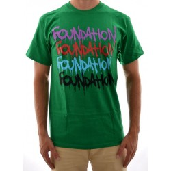 Camiseta Foundation - Graffiti Repeat - Green