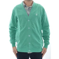 Casaco Huf Academy Cardigan - Jade Heather