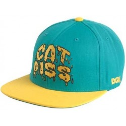 DGK Cat Piss Light Blue Yellow Snapback Hat