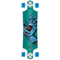"Longboard Santa Cruz Screaming Hand Drop Down Blue - 40"" x 10"""