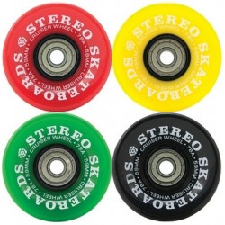 Stereo Vinyl Cruiser Rasta Gumball Wheels 59mm