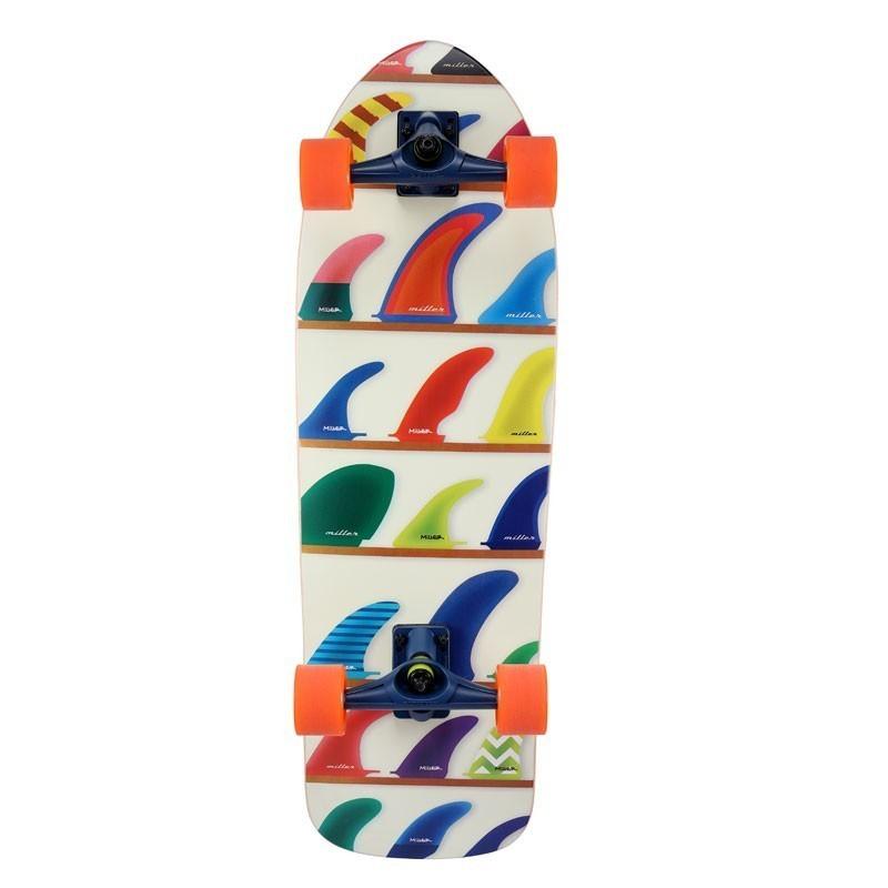 """Surf Skate MILLER - Wheels & Fins 32"""""""""""
