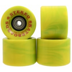 Stereo Vinyl Cruiser Green Swirl Wheels 59mm