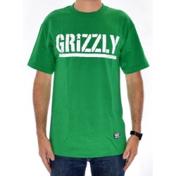 T-Shirt Grizzly Og Stamp Logo - Green