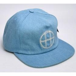 Boné Huf Circle H Snapback - Blue Denim