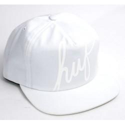 Boné Huf Scipt Snapback - White
