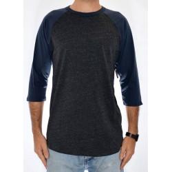 T-Shirt Analog Baseball - Dark Charcoal Heather