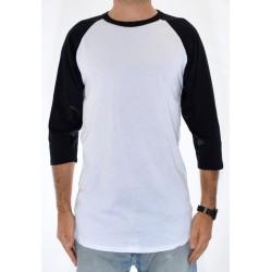 T-Shirt Analog Baseball - White/Black