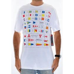 T-shirt ASPHALT Alpha - White