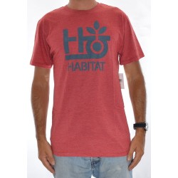 T-Shirt Habitat Pod Logo - Red Heather