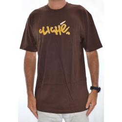 T-Shirt Cliché Handwritten Maggot - Brown
