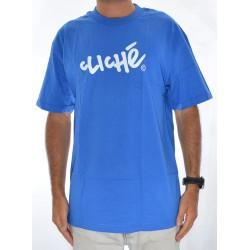 T-Shirt Cliché Handwritten - Royal