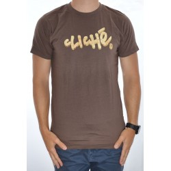 T-Shirt Cliché Handwritten 7 Ply - Brown