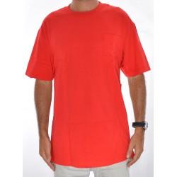 T-Shirt Cliché Big Paper Pocket - Red