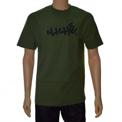 Camiseta Cliché Handwritten Classic - Army Green/Black