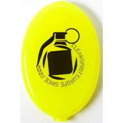Porta Moedas Clean Spirit Granada Amarelo Fluorescente Preto
