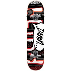 "Skate Completo Blind OG Damn Bubble Charcoal/Red (Soft Wheels) - 7.5"""""
