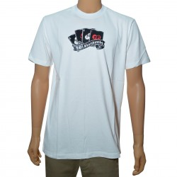 T-Shirt Jart Pokerskull - White