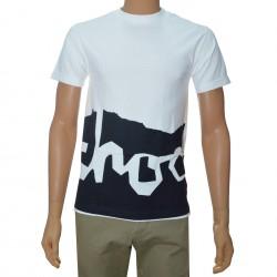 T-Shirt Chocolate Two Tone - White/Black