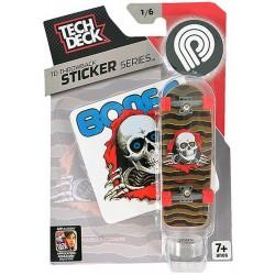 Fingerboard Tech Deck Throwback Sticker Series Powell Peralta 1/6
