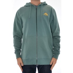 Sweat Hood Zip Emerica Triangle Fill - Hunter Green