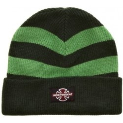 Independent Pier Stripe Kelly Green Beanie