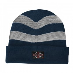 Independent Pier Stripe Charcoal Navy  Beanie