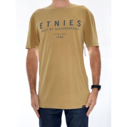 T-Shirt Etnies Established - Mustard