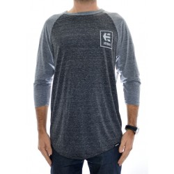 T-Shirt Etnies Stack Box Raglan - Grey/Heather