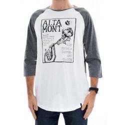 T-Shirt Altamont Flyer Raglan - White/Grey